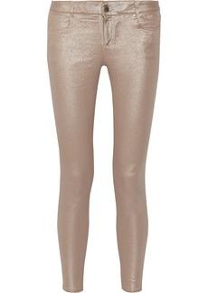 Stella McCartney Metallic mid-rise skinny jeans