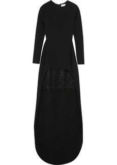 Stella McCartney Millie lace-trimmed stretch-crepe gown