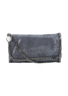Stella McCartney navy faux suede 'Falabella' braided chain detail shoulder bag