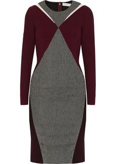 Stella McCartney Paneled wool-blend dress