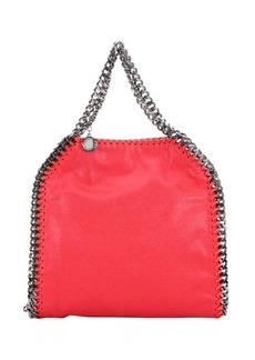Stella McCartney pink faux suede 'Falabella' braided chain detail mini shoulder bag