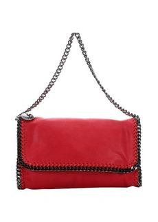 Stella McCartney pink faux suede 'Falabella' braided chain detail shoulder bag