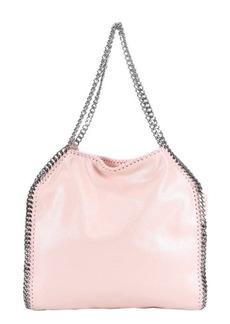 Stella McCartney pink vegan suede 'Falabella' chain link tote bag