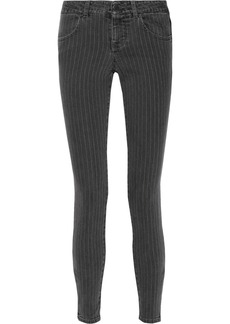 Stella McCartney Pinstriped mid-rise skinny jeans