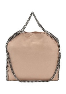Stella McCartney powder pink faux suede 'Falabella' foldover tote