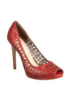 Stella McCartney redwood faux leather cutout peep toe heels