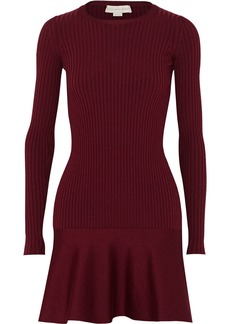 Stella McCartney Ribbed wool and silk-blend mini dress
