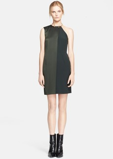 Stella McCartney Sable Crepe & Satin Dress with Neck Hardware
