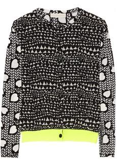 Stella McCartney Silk-paneled wool cardigan