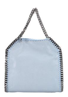 Stella McCartney sky blue faux suede 'Falabella' braided chain detail mini shoulder bag