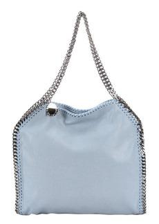 Stella McCartney sky blue faux suede 'Falabella' braided chain detail tote