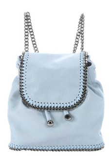 Stella McCartney sky blue faux suede 'Falabella' mini backpack