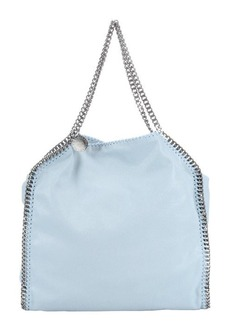 Stella McCartney sky blue vegan suede 'Falabella' chain link top handle tote