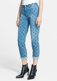 Stella McCartney Star Embroidered Skinny Boyfriend Jeans