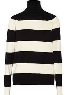 Stella McCartney Striped silk-blend turtleneck sweater