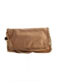 Stella McCartney tan faux leather 'Falabella' braided chain detail messenger bag
