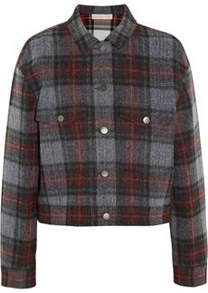 Stella McCartney Tartan cotton and wool-blend jacket