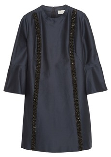 Stella McCartney Tessie embellished cotton and silk-blend faille dress