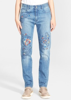 Stella McCartney 'The Skinny' Embroidered Boyfriend Jeans
