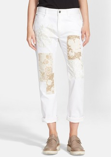 Stella McCartney 'The Skinny' Embroidered Patchwork Boyfriend Jeans