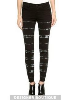 Stella McCartney Tie Dye Zip Skinny Jeans