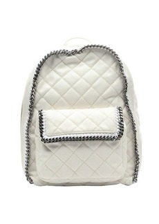 Stella McCartney white quilted chain link detailed backpack