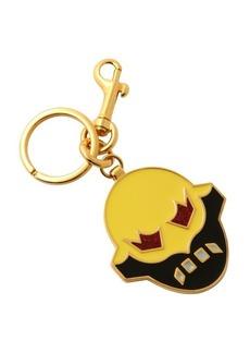 Stella McCartney yellow and black enamel 'Super Hero' keychain