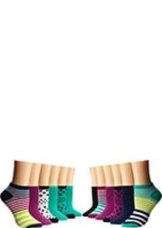 Steve Madden 12 Pack Stripe/Dot Low Cut Fashion Athletic
