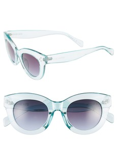 Steve Madden 49mm Translucent Cat Eye Sunglasses