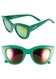 Steve Madden 51mm Cat Eye Sunglasses
