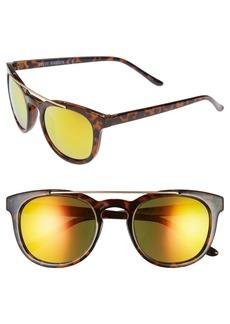 Steve Madden 51mm Metal Brow Bar Sunglasses