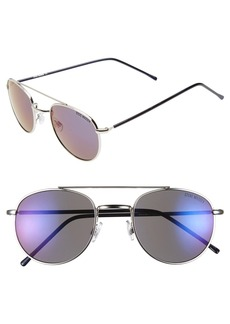 Steve Madden 52mm Mirror Lens Aviator Sunglasses