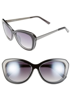 Steve Madden 53mm Polarized Cat Eye Sunglasses