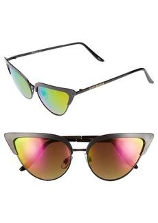 Steve Madden 53mm Vintage Metal Cat Eye Sunglasses