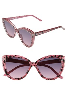 Steve Madden 54mm Animal Print Cat Eye Sunglasses