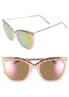 Steve Madden 54mm Cat Eye Sunglasses