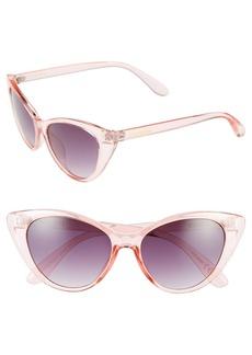 Steve Madden 54mm Retro Cat Eye Sunglasses