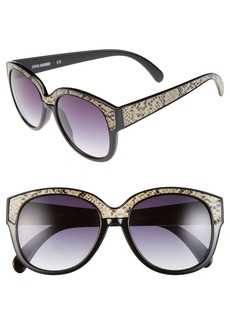 Steve Madden 55mm Retro Sunglasses