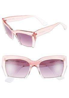 Steve Madden 55mm Semi Rimless Sunglasses