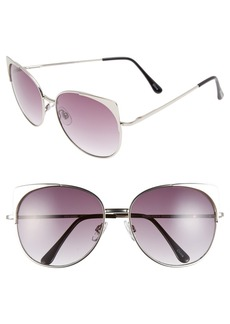 Steve Madden 57mm Retro Sunglasses