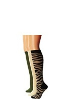 Steve Madden 6 Pack Animal Print and Solid  Knee High