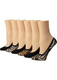 Steve Madden 6 Pack Animal Print Mesh Footie