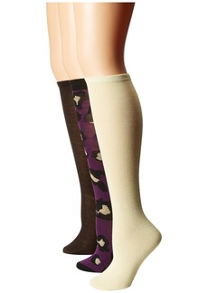 Steve Madden 6-Pack Print and Solid Knee High