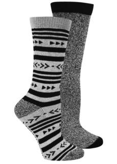 Steve Madden Aztec Stripe Boot Socks - 2-Pack, Crew (For Women)