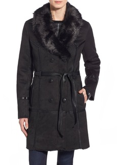 Steve Madden Belted Faux Shearling Coat