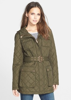 Steve Madden Belted Quilted Anorak