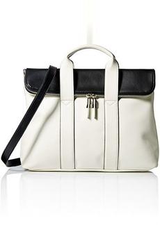 Steve Madden Bfoldovr Satchel Bag, White/Multi, One Size