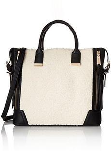 Steve Madden Bfrisky Satchel Top Handle Bag, Black, One Size