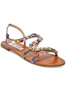 Steve Madden Blazzzed Jeweled Flat Sandals Women's Shoes