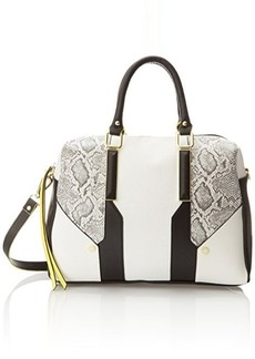 Steve Madden Blogan Satchel Top Handle Bag, Black, One Size